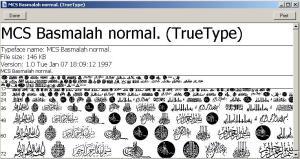 Basmallah Font